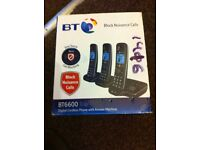 BT 6600 Trio Digital Cordless Phone With Answer Machine & Advanced Call Blocking