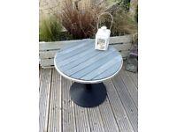 Beautifully restored garden tables