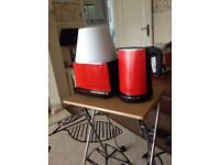 Hotpoint fast boil kettle & matching multi function toaster