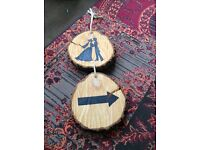Rustic wood wedding sign - hand made