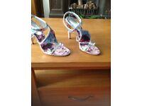 Karen Millen purple floral sandal