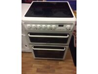 HOTPOINT ceramic top 60cm double oven cooker. Guaranteed.