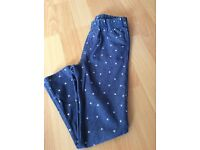 Girls star denim leggings