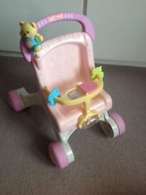 Fisher price baby walker/pram for baby