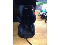 Recaro young sport black car seat bargain!