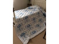 Dorma Bedspread practically new. Excellent quality very pretty blue and white.