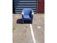 Tub Chairs - Fabric (Blue or Burgendy)