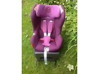 Cybex Sirona Platinum Childs car seat. Purple colours. Immaculate. Isofix 360 degree turning.