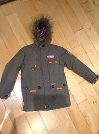 Boys Quechua parka coat. Age 10 hardly worn