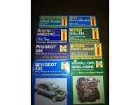 Various Haynes manuals