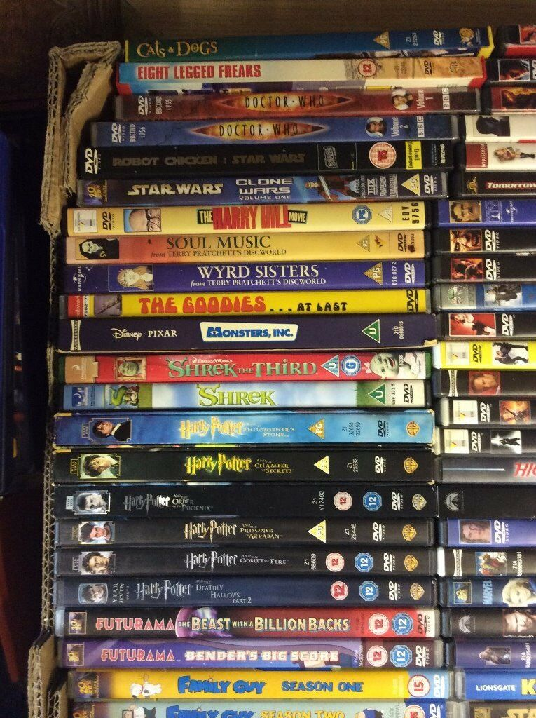 150+ Assorted DVD's