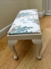 Laura Ashley covered footstool/table