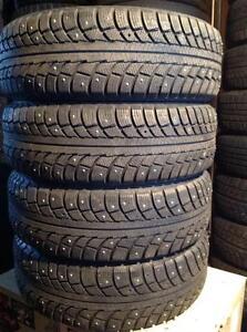 4 pneus à clous 185/65 r15 gislaved nord frost 5.  135$