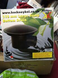 Pond bottom drain