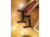 USED EXERCISE BIKE AND NEW PUSH UP AIDS
