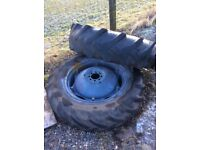 Tractor wheels and tyres for sale £50 ono