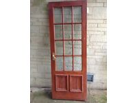 External glazed door.