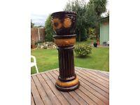 Ceramic Jardiniere - stand and pot