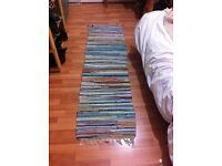 Colourful runner / rugs made from recycled fabric strips