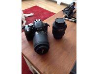 Nikon D5100 + 2 lenses