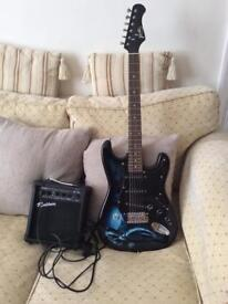 ELECTRIC GUITAR AND 10W AMP