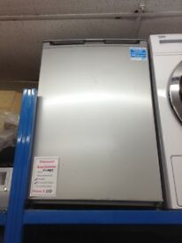 Beko under the counter fridge. Silver £110 new/graded 12 month Gtee