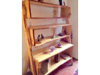 Display shelf units. Natural edge wood.