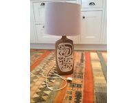 Cornish pottery/ceramic lamp
