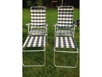 Lightweight garden chairs and footrests