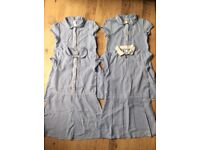 Girl school summer dress x4 in blue colour age 8-9 year old in excellent condition.