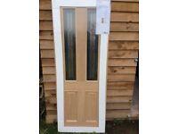 New triple glazed oak veneer front door