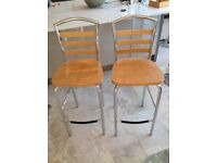 Bar kitchen stools X 2 (wooden)