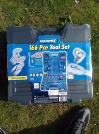 New Sealed Kincrome Socket Spanners Wrench & Driver Tool 166 pcs Set not Snap on or Halfords