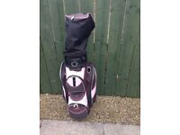 Ladies Powakaddy Golf Bag/Hood/Raincover