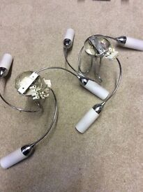 2 celling lights in chrome great condition