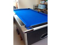 Pub style Pool table, good condition, slate bed, 6ft by 3ft plus accessories
