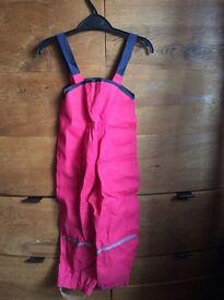 Girls pack away waterproof set age 3 to 4
