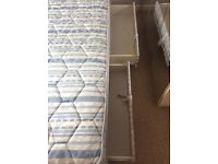 Single divan bed and mattress with 2 drawers