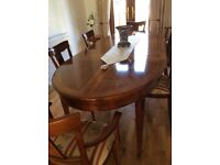 Quality Dining Table with 6 chairs