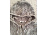 Fatface knitted hooded cardigan
