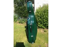 Full size sinfonica fibreglass cello case with wheels