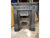 Original Cast Iron Fireplace