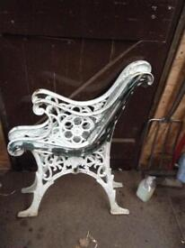 Cast Iron Bench Ends.