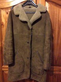 Sheepskin coat for sale 3/4 lenght