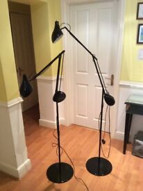 Two black lamps, like new