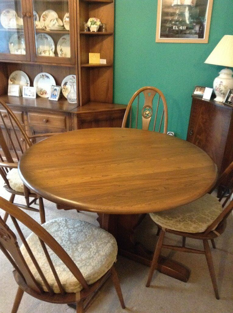 ERCOL Dining Suite DRESSER 8 Chairs EXTENDING TABLE VGC