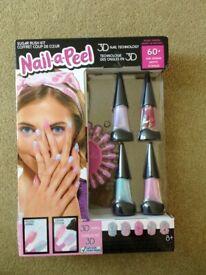 Brand new 100+ piece deluxe Nail-a-Peel Sugar Rush 3D nail large kit gel polish & nail accessories