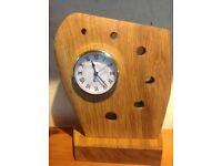 Oak free standing clock
