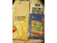 Disney Winnie The Pooh Curtains, duvet covers pillow cases and valance sheet for single bed