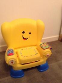 Fisher price laugh and learn chair yellow Christmas